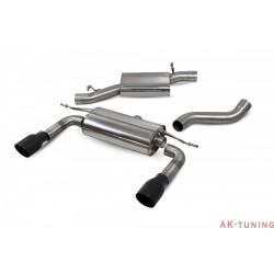 Audi TT MK3 2.0 TFSi Quattro - Cat-back (resonated) utan avgasspjäll - Daytona Svarta keramiska ändrör - Scorpion | SAU086C