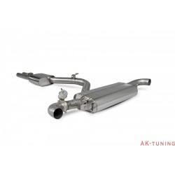 Audi TT RS MK2 - Cat-back (resonated) inkl avgasspjäll - OEM - Scorpion