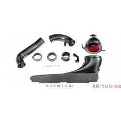 Audi RS3 8V - Svart Kolfiber insug med Metal Turbo Tube - Eventuri