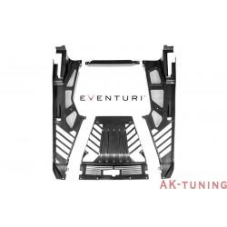 Lamborghini Huracan - Svart Kolfiber Engine Cover Set med Cutouts - Eventuri | EVE-HCN-CF-PLC-ENG
