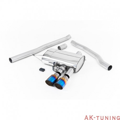 Mini Cooper S 2.0T F56 - Milltek cat-back (non-resonated) bränd titanium GT ändrör inkl aktiva avgasventiler (via Bluetooth) ...