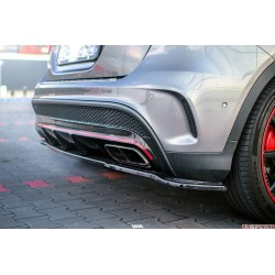 Bakre diffuser tilägg med vertikala gälar - Mercedes GLA45 AMG (X156) Pre facelift