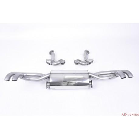 """Audi R8 V8 4.2 FSI quattro Cat-back - tar bort bakre katalysatorer - Non-resonated (mindre dämpad). Använder OEM ändrör 2,76"""""""