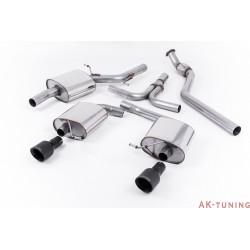 """Audi A5 Coupé 2.0 TFSI 2WD och quattro (Tiptronic endast) Cat-back - Dubbla utblås Cerakote svarta ändrör. Kräver A5 3.2 S-line diffuser med Dubbla utblås. S-line modeller enbart 2,76"""""""