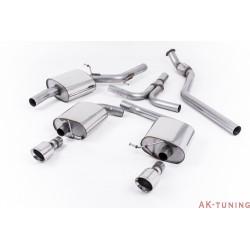 """Audi A5 Coupé 2.0 TFSI 2WD och quattro (manuell endast) Cat-back - Dubbla utblås Kräver A5 3.2 S-line diffuser med Dubbla utblås. S-line modeller enbart 2,76"""""""