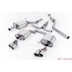 """Audi A5 Sportback 2.0 TFSI 2WD och quattro manuell Cat-back - Quad-utblås. Kräver Diffuser från S5 4.2 V8. 2,76"""""""
