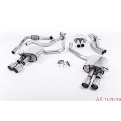 Audi S4 3.0T V6 - Cat-back (resonated) mer dämpad - Quad GT-90 Polished ändrör | SSXAU644