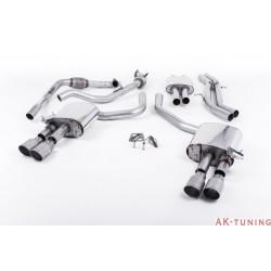 Audi S4 3.0T V6 - Cat-back (resonated) mer dämpad - Quad GT-90 Titanium ändrör | SSXAU646