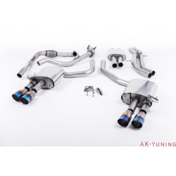 Audi S4 3.0T V6 - Cat-back (resonated) mer dämpad - Quad GT-90 Burnt Titanium ändrör | SSXAU647