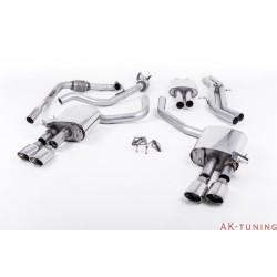 Audi S4 3.0T V6 - Cat-back (resonated) mer dämpad - Quad Polished Oval ändrör | SSXAU648