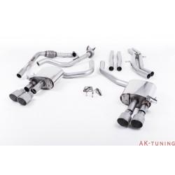 Audi S4 3.0T V6 - Cat-back (non-resonated) mindre dämpad - Quad GT-100 Titanium ändrör | SSXAU652