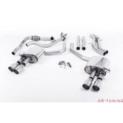 Audi S4 3.0T V6 - Cat-back (non-resonated) mindre dämpad - Quad GT-90 Polished ändrör | SSXAU655