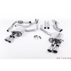 Audi S4 3.0T V6 - Cat-back (non-resonated) mindre dämpad - Quad Polished Oval ändrör | SSXAU659