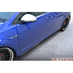VW Golf MK7 R (facelift) carbon sidokjolar tillägg | AK-VW-GO-7F-R-CARB-SD1