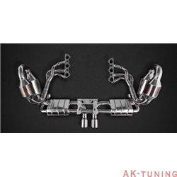Porsche 991 GT3 - Capristo komplett avgassystem med grenrör och racekatalysatorer med aktiva avgasventiler