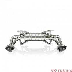 Audi R8 V10 09-12 - Akrapovic Slip-On i Titan med kolfiber utblås