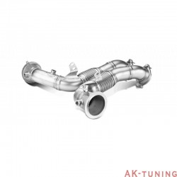 BMW X5M / X6M - Akrapovic downpipes i rostfritt