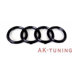 Audi blank svarta ringar till grill | AK-blackringsfr