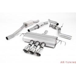 "Honda Civic Type R FK8 Turbocharged 2.0 i-VTEC - Cat-back (resonated) 3x Polished GT100 utblås - 3"""