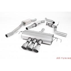 "Honda Civic Type R FK8 Turbocharged 2.0 i-VTEC - Cat-back (resonated) 3x Titanium GT100 utblås - 3"""