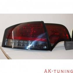 Bakre lyktor AUDI A4 2005-2008 4-Dörrars LED RED SMOKED