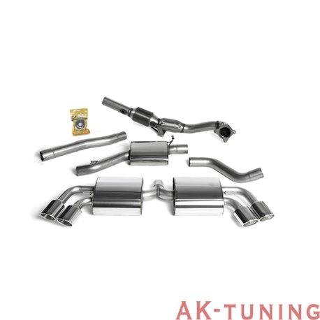 """Audi TTS quattro Turbo-back med racekatalysator - Cast Downpipe med 200 cell HJS High Flow Cat. Kräver Steg 2 mjukvara 2,75"""" ..."""
