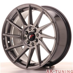 Japan Racing JR22 17x8 ET35 4x100/114 Hiper Black | JR22178043573HB