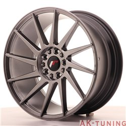 Japan Racing JR22 18x8.5 ET40 5x112/114 Hiper Blac | JR221885ML4074HB