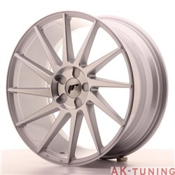 Japan Racing JR22 19x8.5 ET35-40 5H Blank Silver M | JR2219855X3574SM