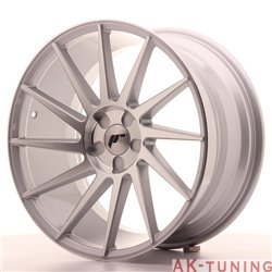 Japan Racing JR22 19x9.5 ET35-40 5H Blank Silver M | JR2219955X3574SM