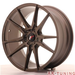 Japan Racing JR21 19x8.5 ET40 5x112/114 Matt Bronz | JR211985ML4074MBZ