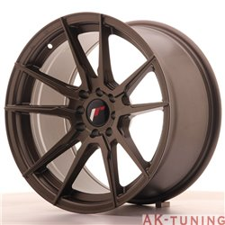 Japan Racing JR21 17x9 ET20 4x100/114 Matt Bronze