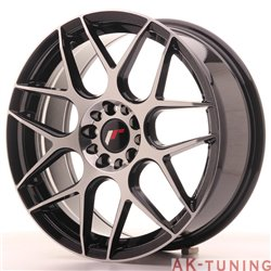 Japan Racing JR18 18x7.5 ET40 5x112/114 Black Mach