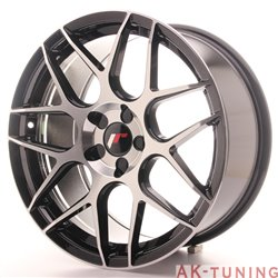 Japan Racing JR18 18x8.5 ET35-45 5H Blank Black Ma