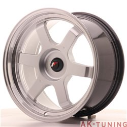 Japan Racing JR12 18x9 ET25-27 Blank Hyper Silver