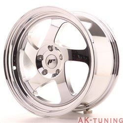 Japan Racing JR15 17x8 ET35 Blank Vacum Chrome