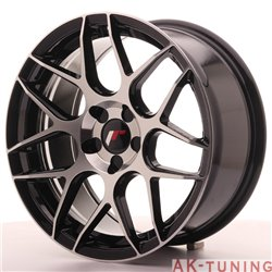Japan Racing JR18 17x8 ET35 5H Blank Black Machine