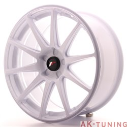 Japan Racing JR11 19x8.5 ET35-40 5H Blank White